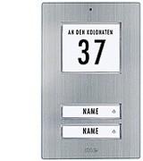 Edelstahl-Klingeltaster für 2-Familienhaus