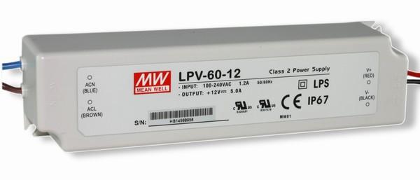LED-Netzteil 12V (DC), IP67, Nicht dimmbar