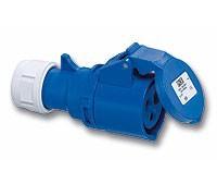CEE Kupplung 3x16A, blau, IP44