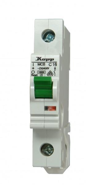 Einbauautomat Kopp 1-polig, C-Charakteristik