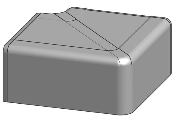 Flachwinkel für 130x70 mm