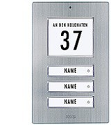 Edelstahl-Klingeltaster für 3-Familienhaus