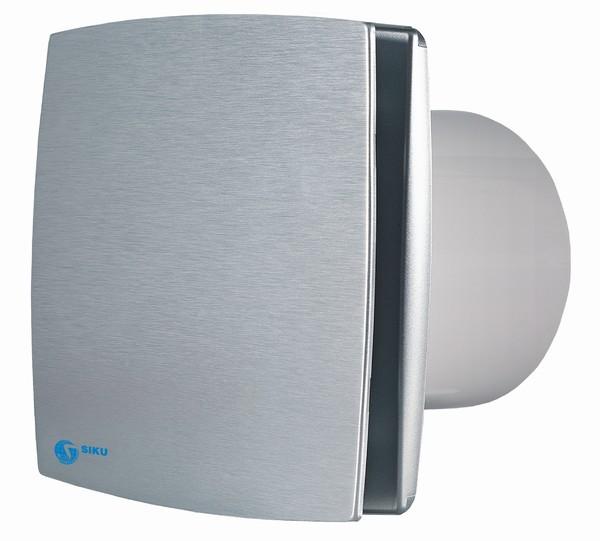 Design-Ventilator, Alu-matt, 100mm