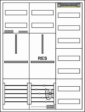 Zählerschrank, 1 Zähler/ 1 TSG/ 1 Verteiler,