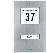 Edelstahl-Klingeltaster für 1-Familienhaus