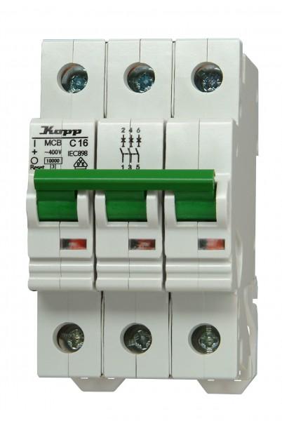 Einbauautomat Kopp 3-polig, C-Charakteristik