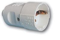 Schuko-Kupplung PVC