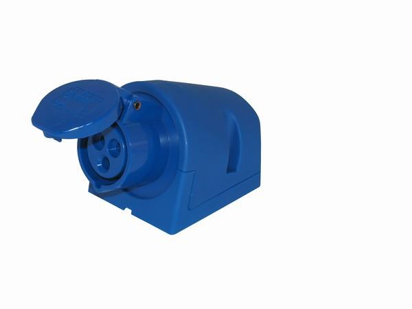 CEE Wandsteckdose 3x16A, blau, IP44