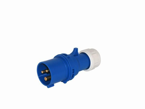 CEE Stecker 3x16A, blau, IP44