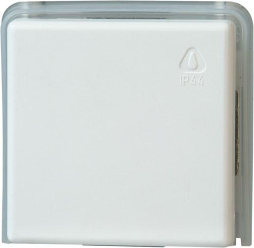 Taster, beleuchtbar, IP44, reinweiß