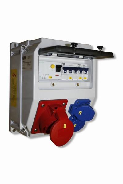 LOFER Wandverteiler IP54 mit FI-Schalter