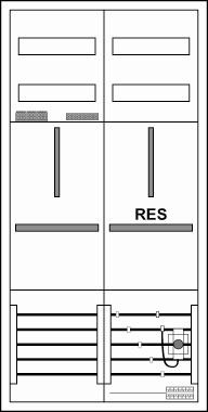 Zählerschrank, 1 Zähler/ 1 TSG,