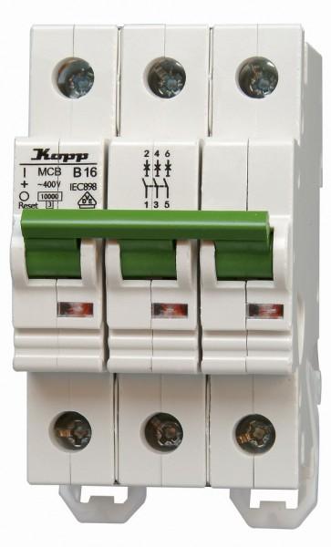 Einbauautomat Kopp 3-polig, B-Charakteristik