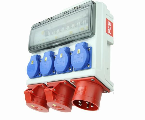 HORN Mobilverteiler IP44 mit FI-Schalter und Automatenabsicherung